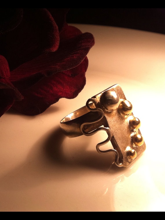 Recycled 9ct gold and sterling silver by TheBlackPearlDesigns, $101.10