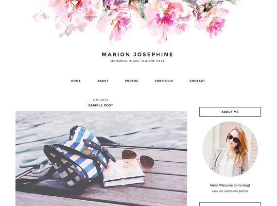 8 best Free Blogger Templates images on Pinterest | Blogger template ...