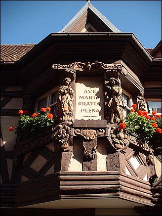 Oriel de la maison des Ménétriers - Ribeauvillé, Haut-Rhin (France)