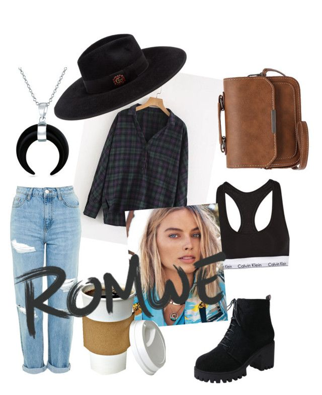 """Romwe"" by drumeaclementina on Polyvore featuring Topshop, Calvin Klein Underwear, Gucci, Bling Jewelry and romwe"