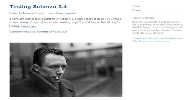#responsive #wordpress #theme scherzo