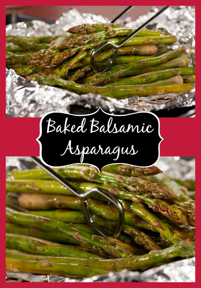 Baked Balsamic Asparagus is the perfect low-carb and low-cal side dish for any occasion!
