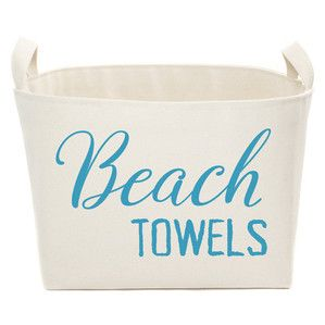 Beach Towels Storage Bin