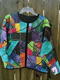 Sewing Sweatshirt Jackets | No Sew Quilted Jacket Sewing Pattern embellish a sweatshirt into a ...