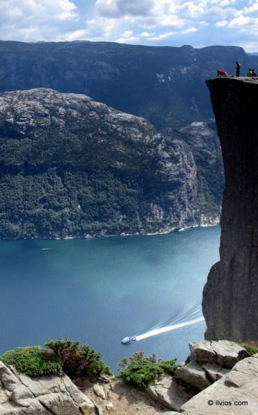 View from Preacher's Rock - Preikestolen, Norway. => www.ilvios.com