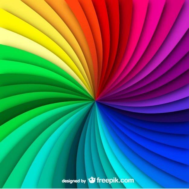 Rainbow swirl background Vector | Free Download