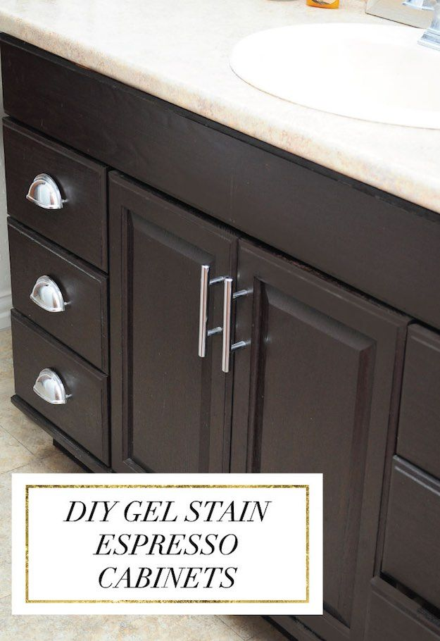 Bathroom makeover ideas you can diy mary staining oak - How do you paint bathroom cabinets ...