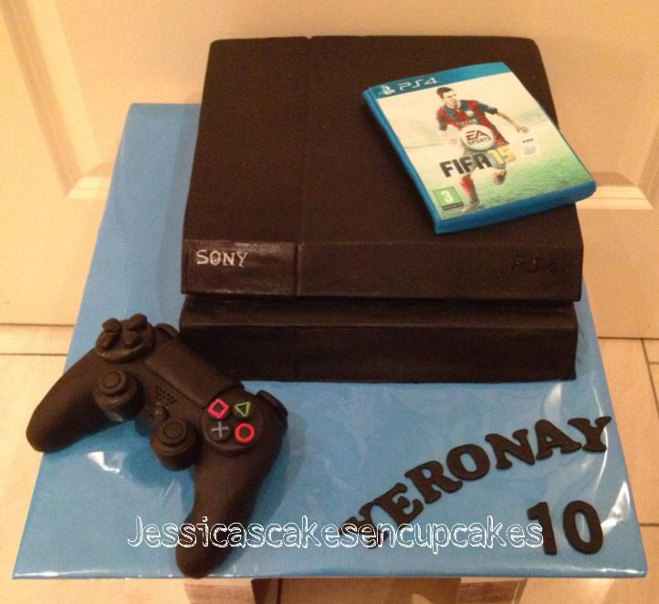 Playstation 4 Cake Jessicascakes Amp Cupcakes Creations
