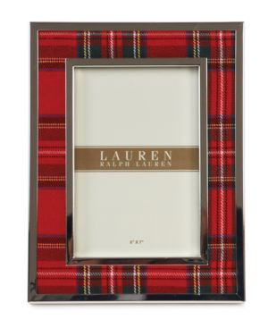 Lauren Ralph Lauren Picture Frame, Clearly Tartan - Classic red plaid edged in…