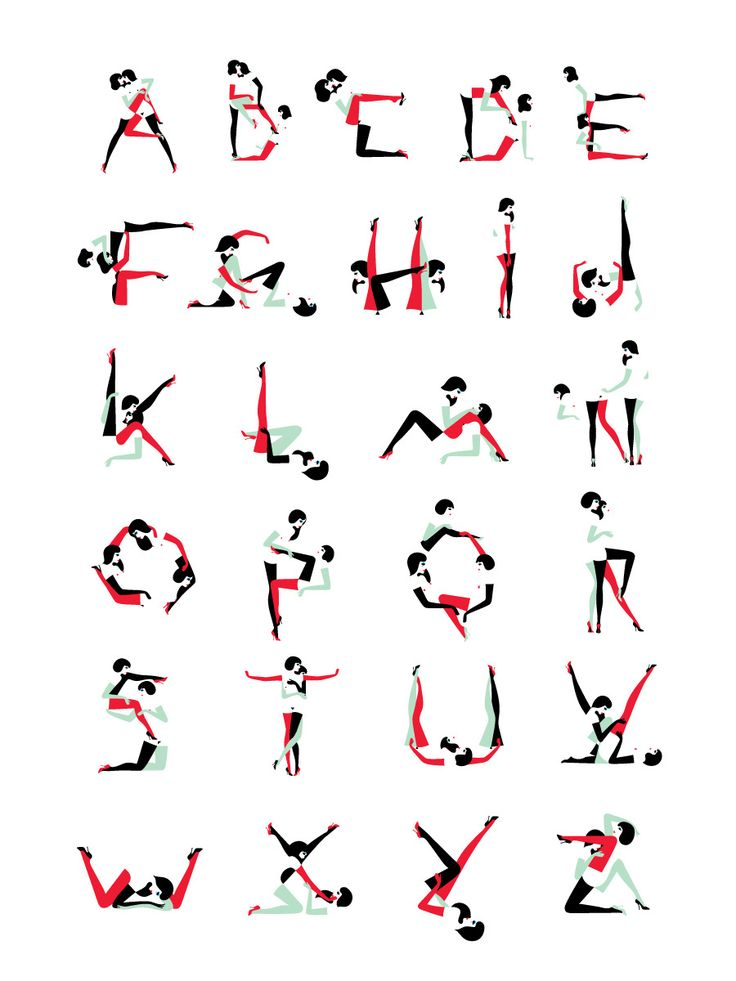 Wallpaper Alphabet by Malika Favre