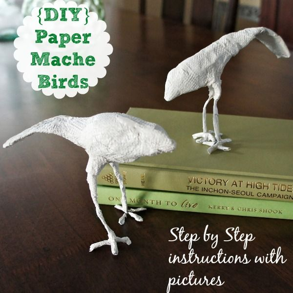 Paper mache birds easy diy project the head fun for Paper mache activities