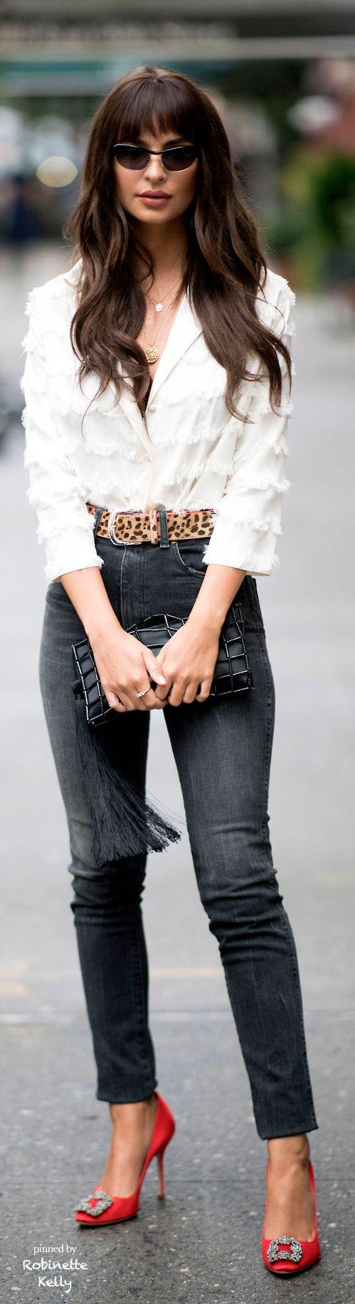 Street Style | Skinny Jeans, Leopard Belt, Heels
