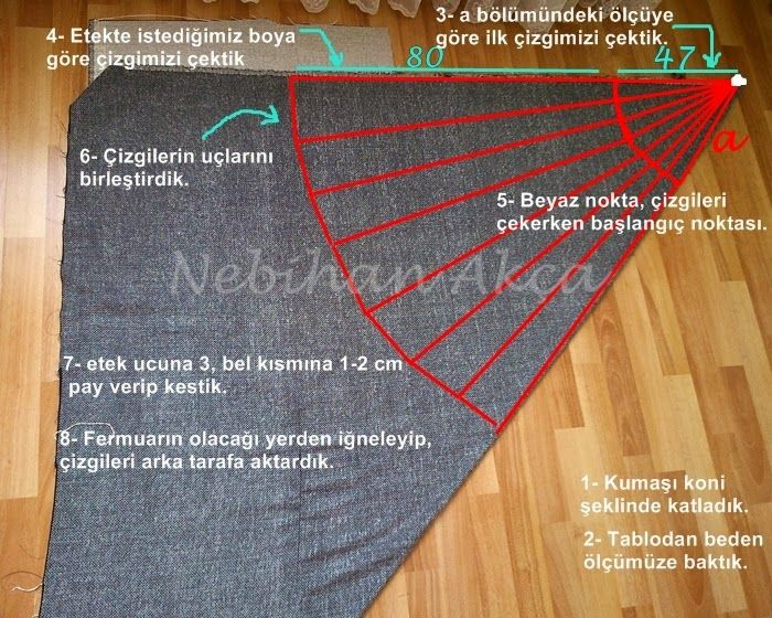 semi circle skirt sewing , how to do,
