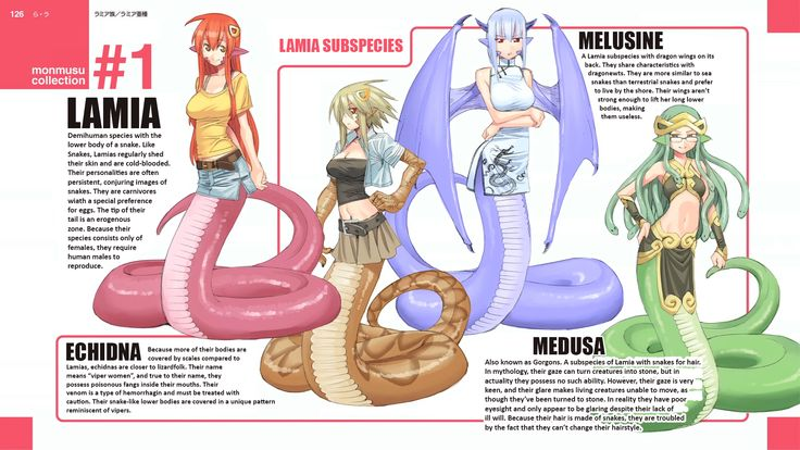 Monster Musume Subspecies Cards | Lamia Subspecies End Card - Modified | Monster…