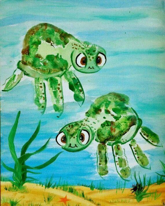 Turtle Handprint Art...adorable Hand & Footprint Art Ideas!