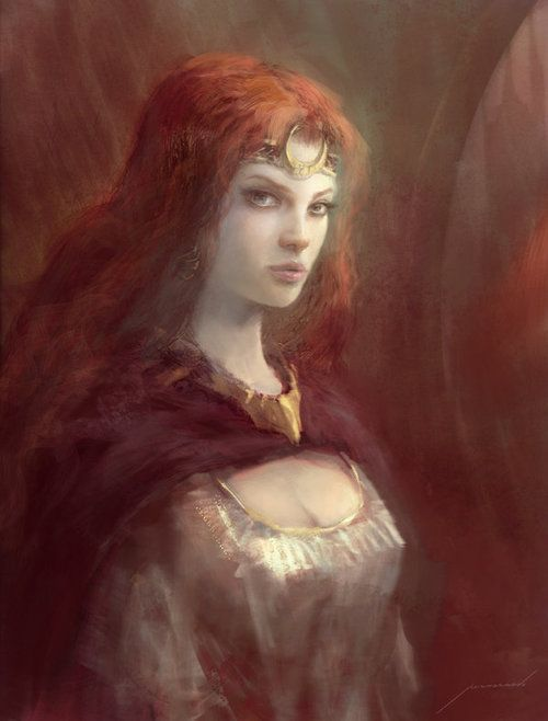 beautiful, girl, maiden, painting, woman, celtic woman, celtice