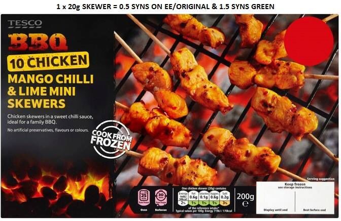 Tesco Mango Chilli Lime Mini Skewer Syns | Slimming World ...