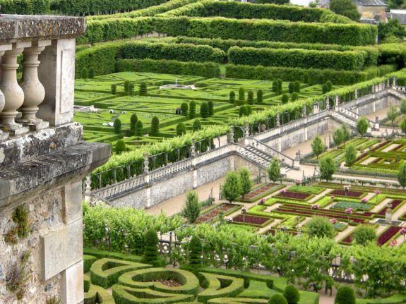 Le Jardin A La Francaise Chateau De Villandry Herbsgarden Formal