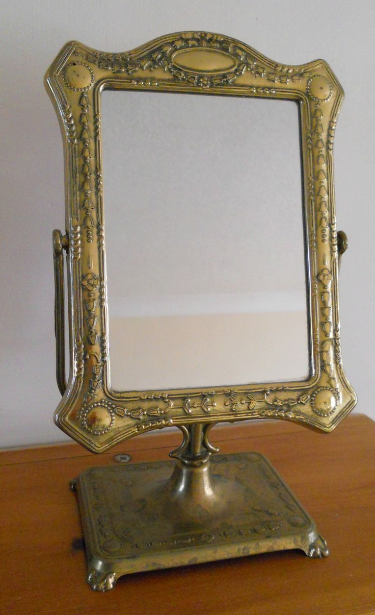 VINTAGE BRASS TABLE-TOP MIRROR ~ SOLD ON MY EBAY SITE LUBBYDOT1