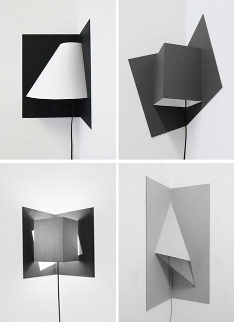 Pop-up corner lamps that illuminate hard-to-light corners. By Well Well Designers.