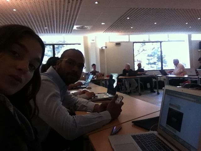Formation #nfc chez Orange pour les finalistes du NFC Orange Awards Go NFCITY!!!! www.simplib.com