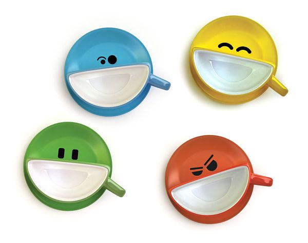 Want to cheer yourself up in the morning. Then start your day with coffee served in this cheerful cup. Set is fully consistent with its name – Smilecap. Colors in this set will only paint your joy. This joyful set was created Ukrainian studio Psyho and is now available for sale. Also don't forget to check our ultimate collcetion of creative mugs.