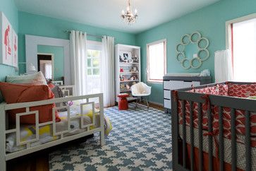 love this nursery design (that day bed!) - also serves a guest room and eventual big girl room -  Olive Juice Designs