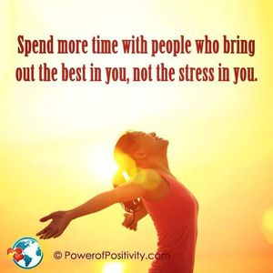 Make who you choose to be positive and watch your stress flow away,don't worry be happy  William Hynes/