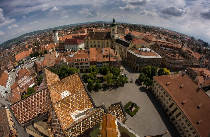 Birds eye view of Sibiu. by Adrian Crapciu - Summer in Romania Photo Contest