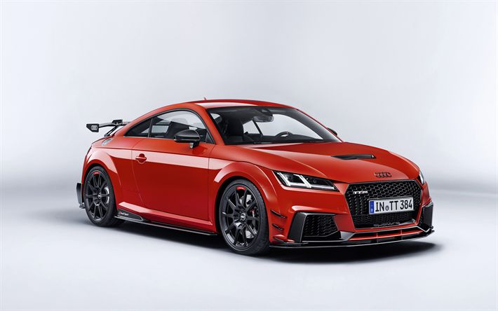 Audi TT RS, performance parts, 2017, Sports car, tuning TT, German cars, red TT, Audi