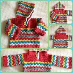 Crochet hoodie. I'd pick different colors