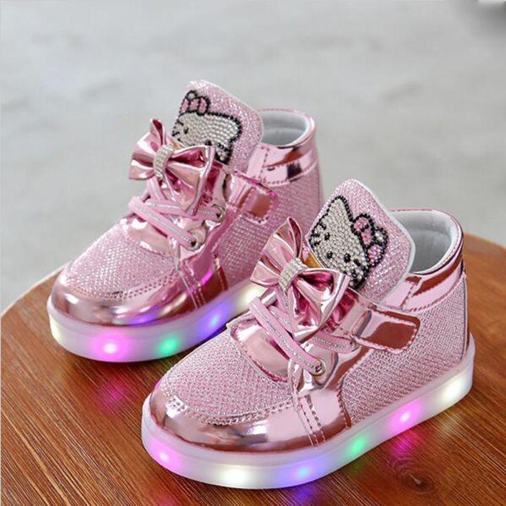 Enfants de enfants de mode LED Light up Shoes Toddler Chaussure Enfant garçons gilrs Sneakers casual shoes 1 2 3 4 5 6 7 oui vieux