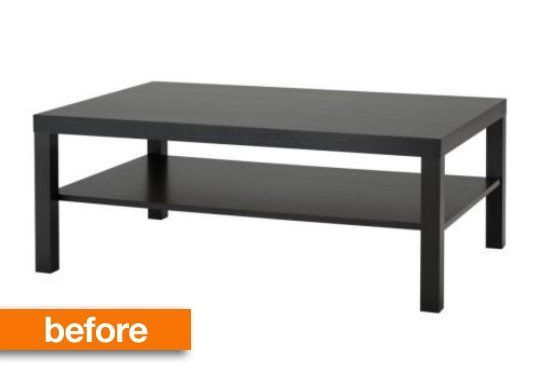 We've seen IKEA coffee tables customized dozens of different ways. They can be retextured, studded, and even given heavy marble tops. But this hack takes it in a different direction and turns one coffee table into an upholstered ottoman.