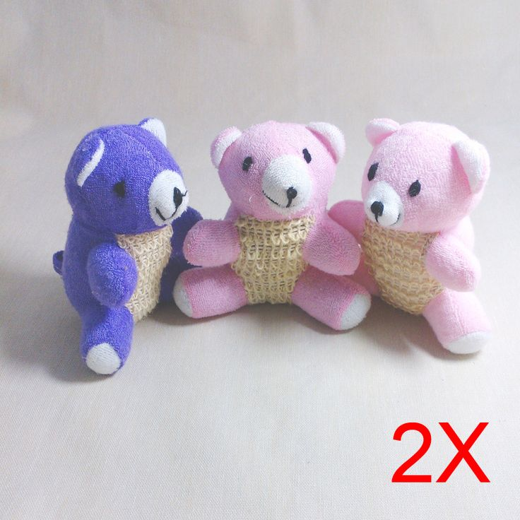 Random 2pcs New Cartoon Bear Bath Brushs Shower Flax Spa Scrubber Effective Exfoliator Scrubber Sponges & Scrubbers  88