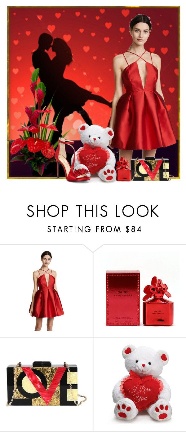 """""""Valentine's Day Teddy"""" by crisvalx-cv ❤ liked on Polyvore featuring Fame & Partners, Marc Jacobs, Diophy and Jessica Simpson"""