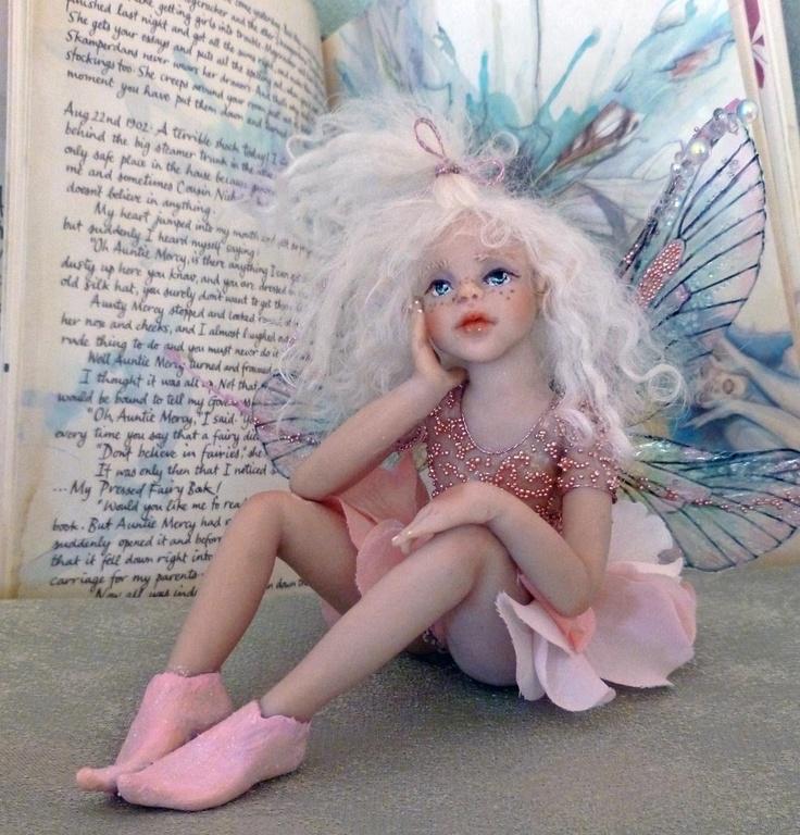 Cottington Pressed Fairy Book and OOAK Hiddleston Faerie
