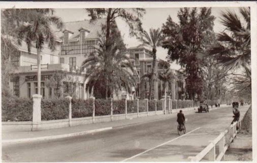 صورة جميلة من أحد شوارع محافظة الاسماعلية في الخمسينات من القرن الماضي