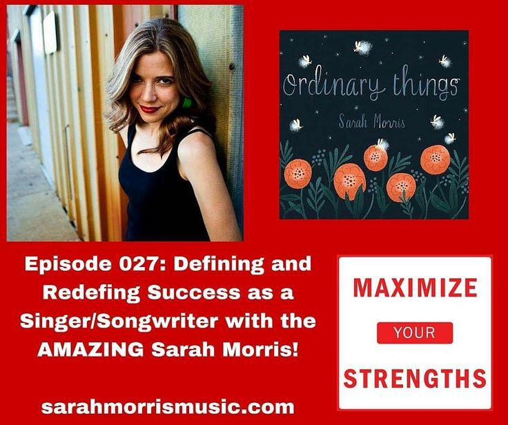 What does success look like when you're in a field as CRAZY competitive and known for luck as much as talent? Today's episode is an awesome interview with @sarahmorrismusic and you'll get to hear some amazing music today too!  Strengths podcast.com/027 #podcast #strengths #maximize yours trenches #success #dairesuccesscoaching #coach #music #success #cliftonstrengths #singer #songwriter #talent