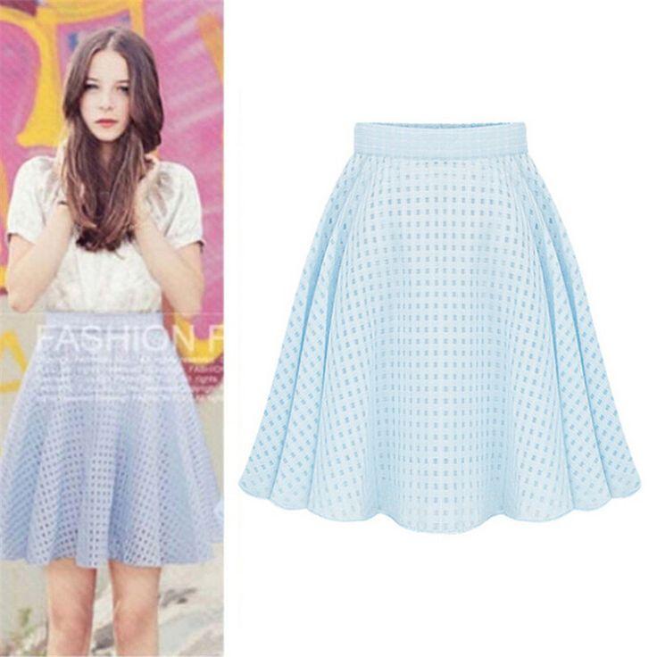 Два слоя Faldas летом женские плиссированные юбки до колен тюль высокая талия стиль юбки Saias Большой размер выдалбливают K100