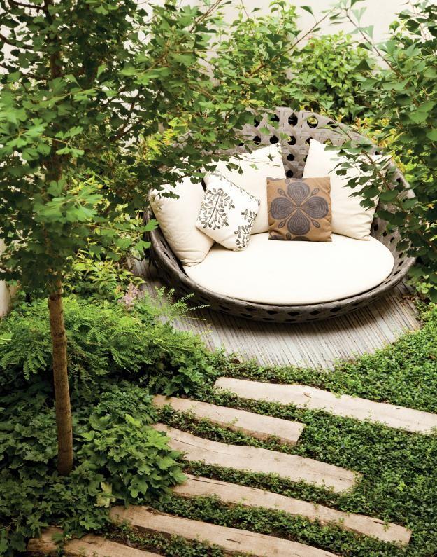 Garden reading nook