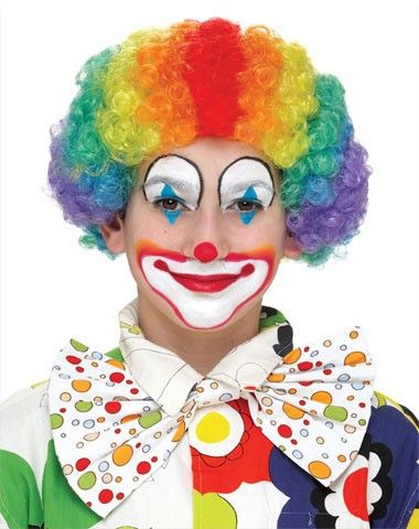 Clown Faces | ... / Adult Costumes / Shop by Theme / Clown / Rainbow Clown Child Wig
