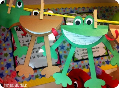 Frog and Toad writing. Cute!