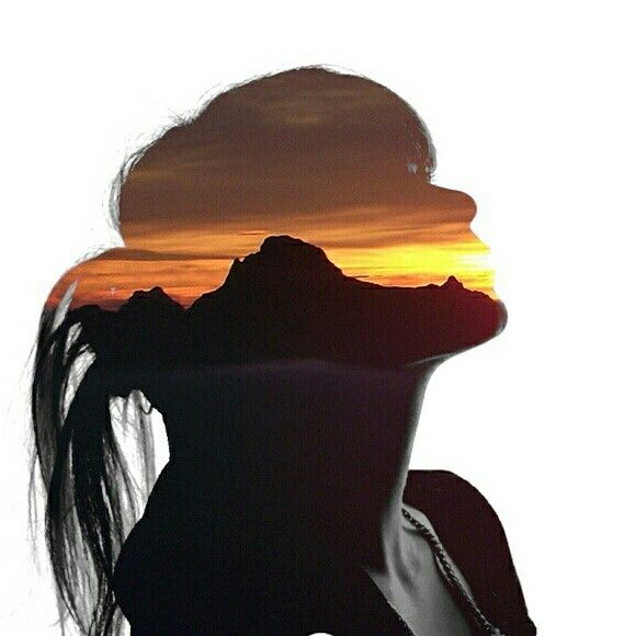 #graficdesing,# woman, #colage,#colour, #sunset