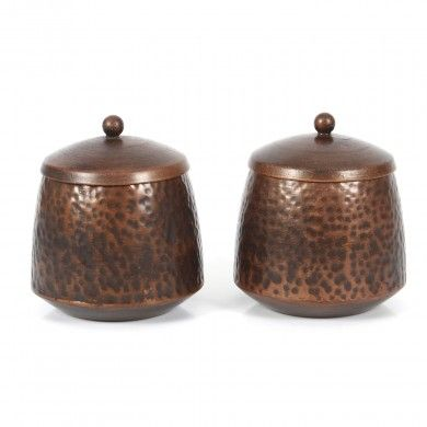 Trinket Box Duo !  Keep those special knick knacks in these special hammered trinket boxes.   Box feature special hammer work to ensure that they work as a stand alone pair as well.