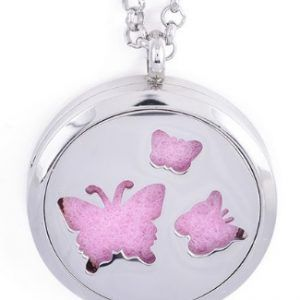 butterfly Aromatherapy Diffuser pendant necklace for Essential Oils