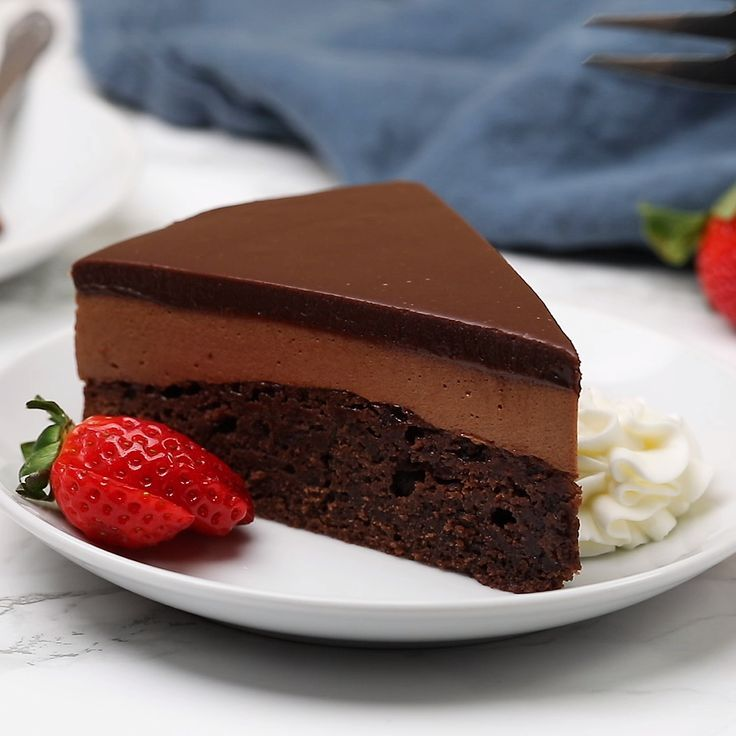 Spoil your Valentine with this decadent triple Nutella mousse cake! #nutella #mousse #cake #valentines