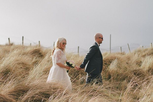 Romantic wedding portaits in a hay field | www.onefabday.com