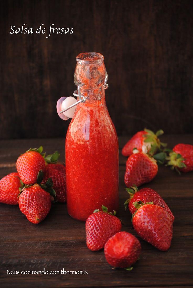 Neus cocinando con Thermomix: Salsa de fresas