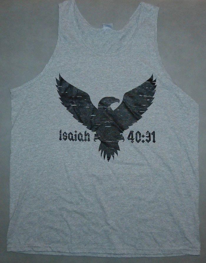 82a0d9aa3f594 Mens Tank Top White Eternal Advisory on Black - CoveredntheWORD Christian T- shirts   Tank