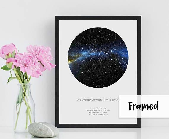 Personalized Gift  Custom Star Map  12x16 FRAMED POSTER